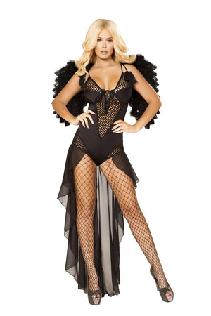 Roma Small / Black Dark Angel Costume Fantasy Halloween SHC-4868-S-R Apparel & Accessories > Costumes & Accessories > Costumes