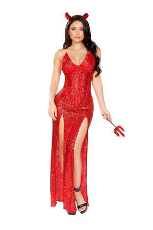 Roma Small / Black Four Piece Satan Devil SHC-4911-S-R Apparel & Accessories > Costumes & Accessories > Costumes