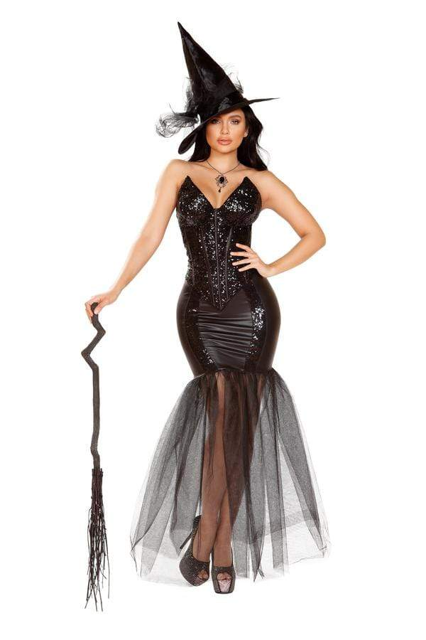 Roma Small / Black Three Piece Witch w/ An Evil Spell SHC-4910-S-R Apparel & Accessories > Costumes & Accessories > Costumes