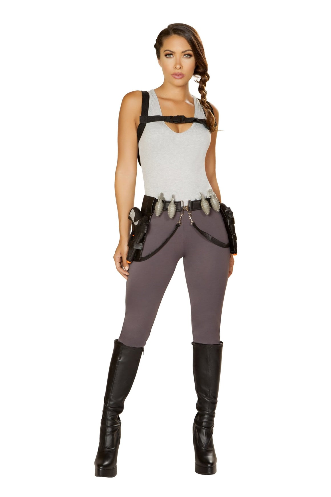 Roma Small / Grey 5pc Cyber Adventure SHC-4847-S-R Apparel & Accessories > Costumes & Accessories > Costumes