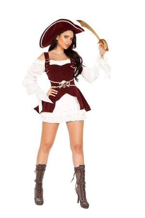 Roma Small / Multi Four Piece Armed Pirate SHC-4919-S-R Apparel & Accessories > Costumes & Accessories > Costumes