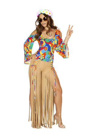 Roma Small / Multicolor 2pc Hippie Princess SHC-4881-S-R Apparel & Accessories > Costumes & Accessories > Costumes