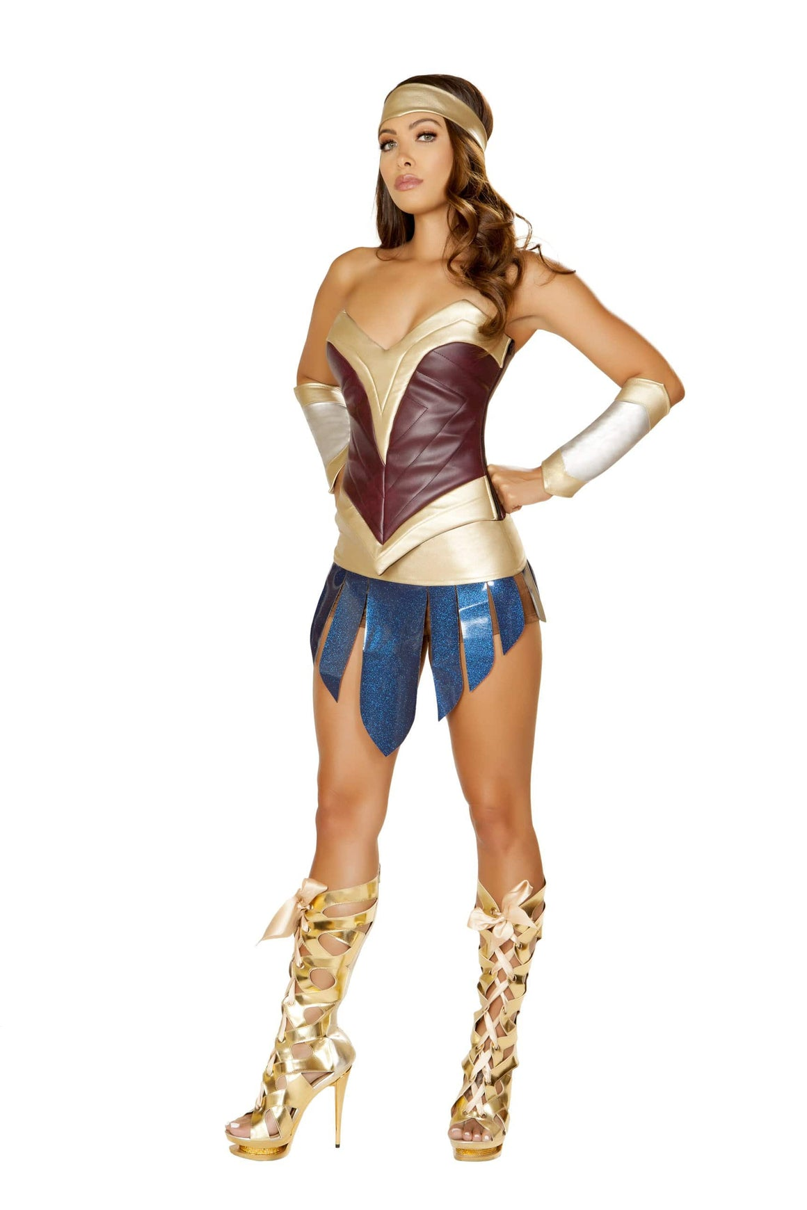 Roma Small / Multicolor 4pc American Heroine SHC-4850-S-R Apparel & Accessories > Costumes & Accessories > Costumes