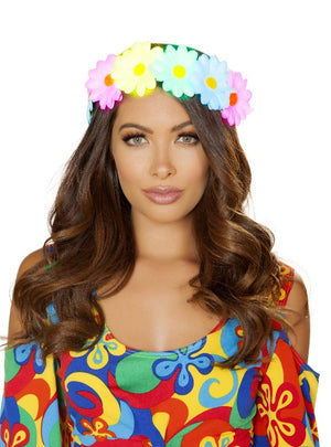 Roma Small / Multicolor Light-up Sunflower Headband SHC-4882-OS-R Apparel & Accessories > Costumes & Accessories > Costumes