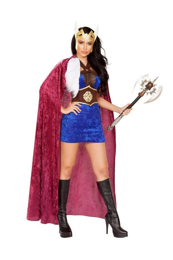 Roma Small / Print Four Piece The Viking Queen SHC-4895-S-R Apparel & Accessories > Costumes & Accessories > Costumes