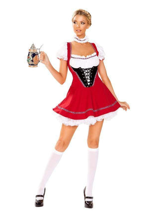Roma Small / Print Red w/ White Two Piece German Beer Wench SHC-4947-S-R Red w/ White Two Piece German Beer Wench | Roma 4947 | SHOP NOW Apparel & Accessories > Costumes & Accessories > Costumes