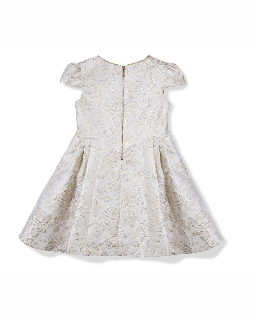 Bow Jacquard Dress