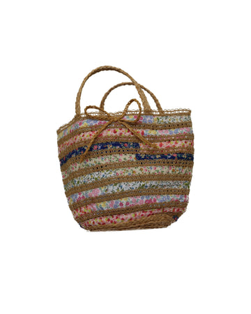 Floral Ribbons Woven Bag