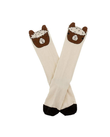 Llamas Head High Socks