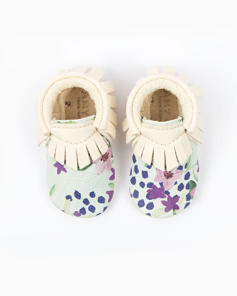 Blue Flowers Moccasins