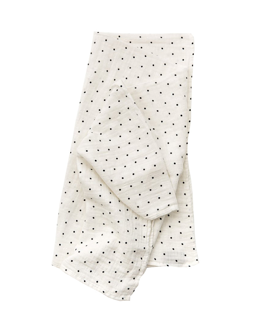Black & White Polka Dot Swaddle