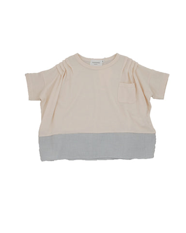 Shoulder Pleats T-Shirt