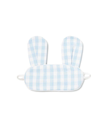 Blue Gingham Bunny Eye Mask