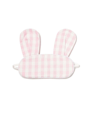 Pink Gingham Bunny Eye Mask