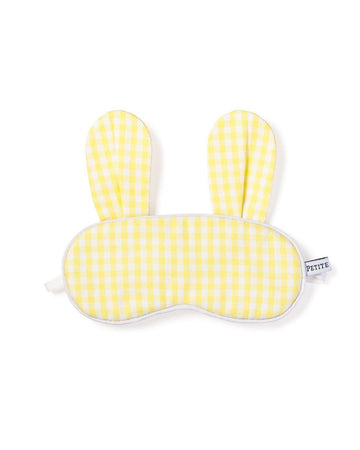 Yellow Gingham Bunny Eye Mask