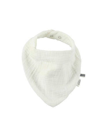 Bliss White Bandana Bib