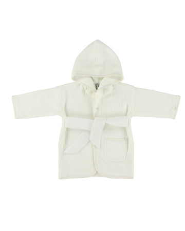 Bliss White Bathrobe 1-2Y