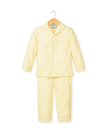 Yellow Gingham Pajama Set