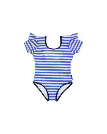 Stripes Frill Swimsuit