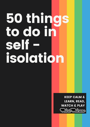 50 things to do in isolation