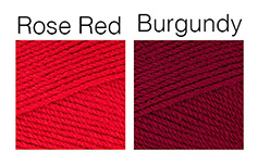 Rose Red and Burgundy Yarn Colours