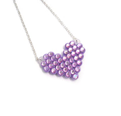 Mini Pixel Heart Necklace