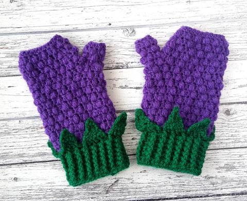 Blackberry Fingerless Gloves