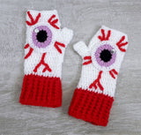 Eye See You Fingerless Gloves