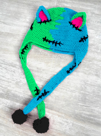 FrankenKitty Ear Flap Beanie