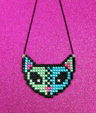 Sparkly and Spooky Cute FrankenKitty Necklace by VelvetVolcano