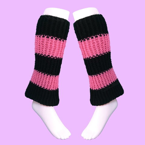 Striped Chunky Boot Cover Leg Warmers