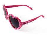 'FLAMINGO' Hot Pink Heart Shaped Sunglasses