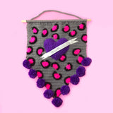 Custom Tattoo Heart Leopard Print Wall Hanging