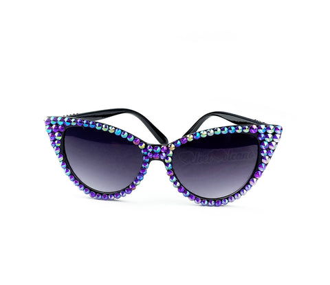 'MAGICK' Violet and Black Cat-Eye Sunglasses