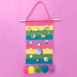 Pastel Rainbow Striped Pin Display Banner