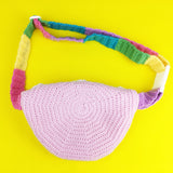 Pastel Rainbow Fanny Pack - Kawaii Belt Bag - Fairy Kei Bum Bag / Waist Bag by VelvetVolcano