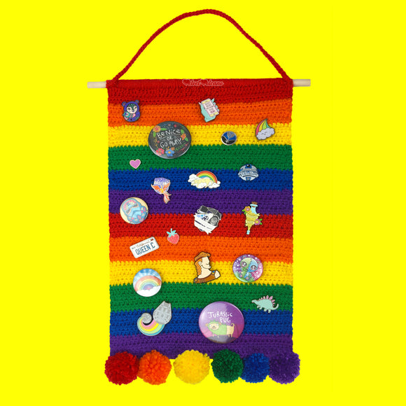 Rainbow Striped Pin Display Banner