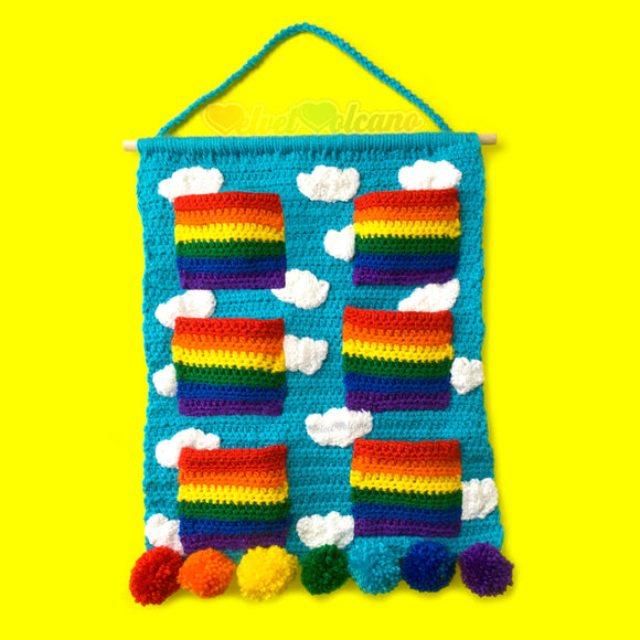 Clouds & Rainbows Hanging Organiser