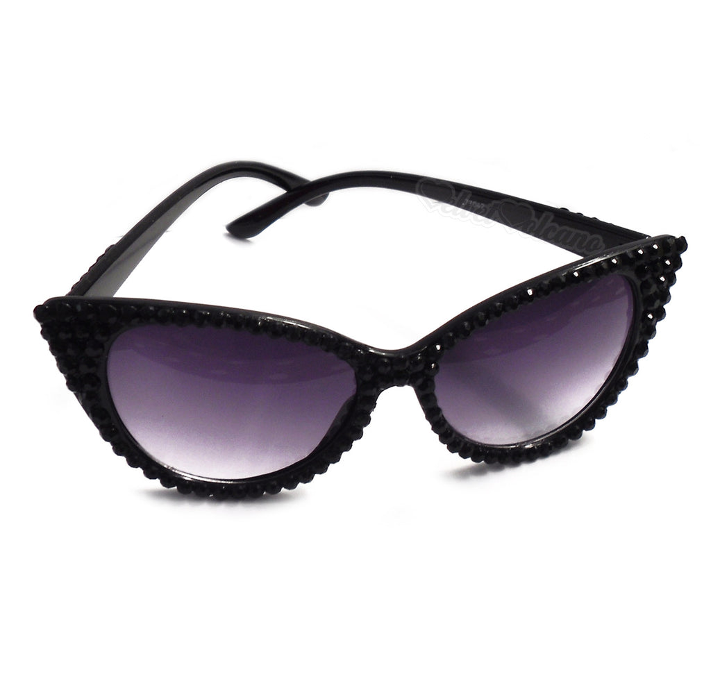 'SIREN' Black Cat-Eye Sunglasses by VelvetVolcano
