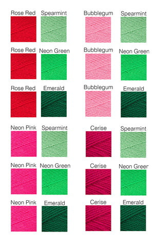 Colour Options for Watermelon Crochet Halter Top by VelvetVolcano