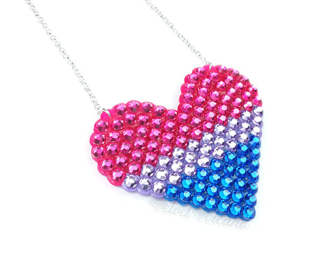 Bisexual Love-Heart Necklace
