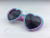 Sparkly Pink & Turquoise Heart Shaped Sunglasses
