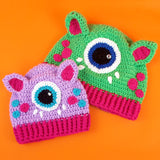VelvetVolcano Cyclops Kitty Hats - Adult & Child Sizes