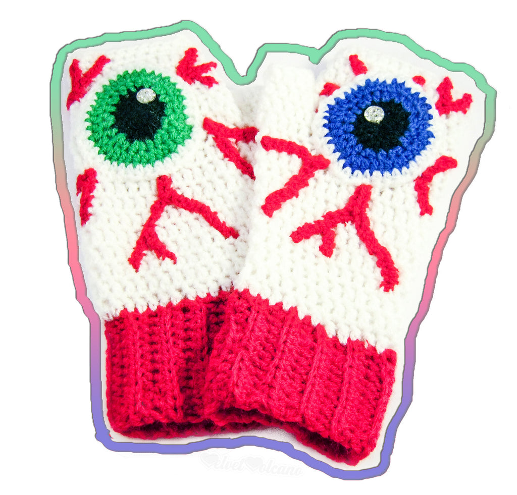 Eye See You Fingerless Gloves by VelvetVolcano