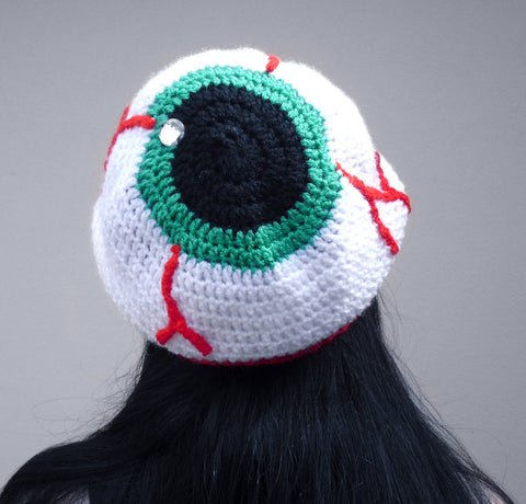 Eye See You - Slouchy Eyeball Beanie by VelvetVolcano