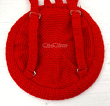 Crochet Circular Backpack with adjustable straps by VelvetVolcano