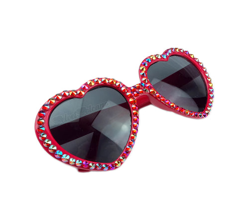 FLAME Red Heart Shaped Sunglasses