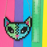 VelvetVolcano FrankenKitty Necklace Measurements