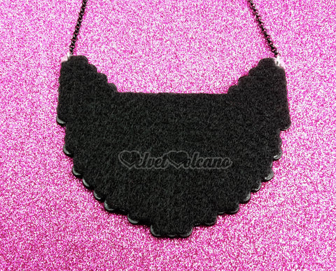 VelvetVolcano Felt Backing on FrankenKitty Necklace