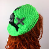 Custom Colour Graveyard Beret - Crochet Cemetery Themed Hat by VelvetVolcano
